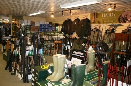 huge selection of clothing and fishing tackle